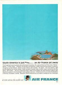 1969-Original-Publicite-039-Advertising-Air-France-Jet-Sud-America-Is-Just-27X20