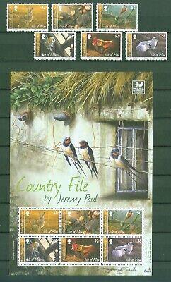 Herrlich Isle Of Man 2009 - Gemälde Tiere Hase Igel Schaf Eule Fasan - 1551-56 + Block 69
