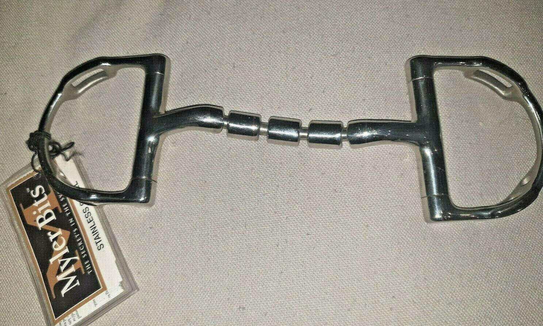 Myler Dee w Hooks Stainless Steel Tripple Barrel Snaffle Bit 4.5''
