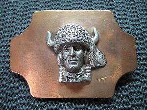 Engraved Oval Rope Border Antique Copper Finish Western Belt Buckle