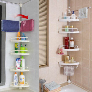Triangular Shower Caddy Shelf Bathroom Wall Corner Rack Storage Organizer Holder