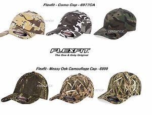 Image is loading Flexfit-Camouflage-Cap-Mossy-Oak-Structured-Camo-6999- f5f8cf7db8fd