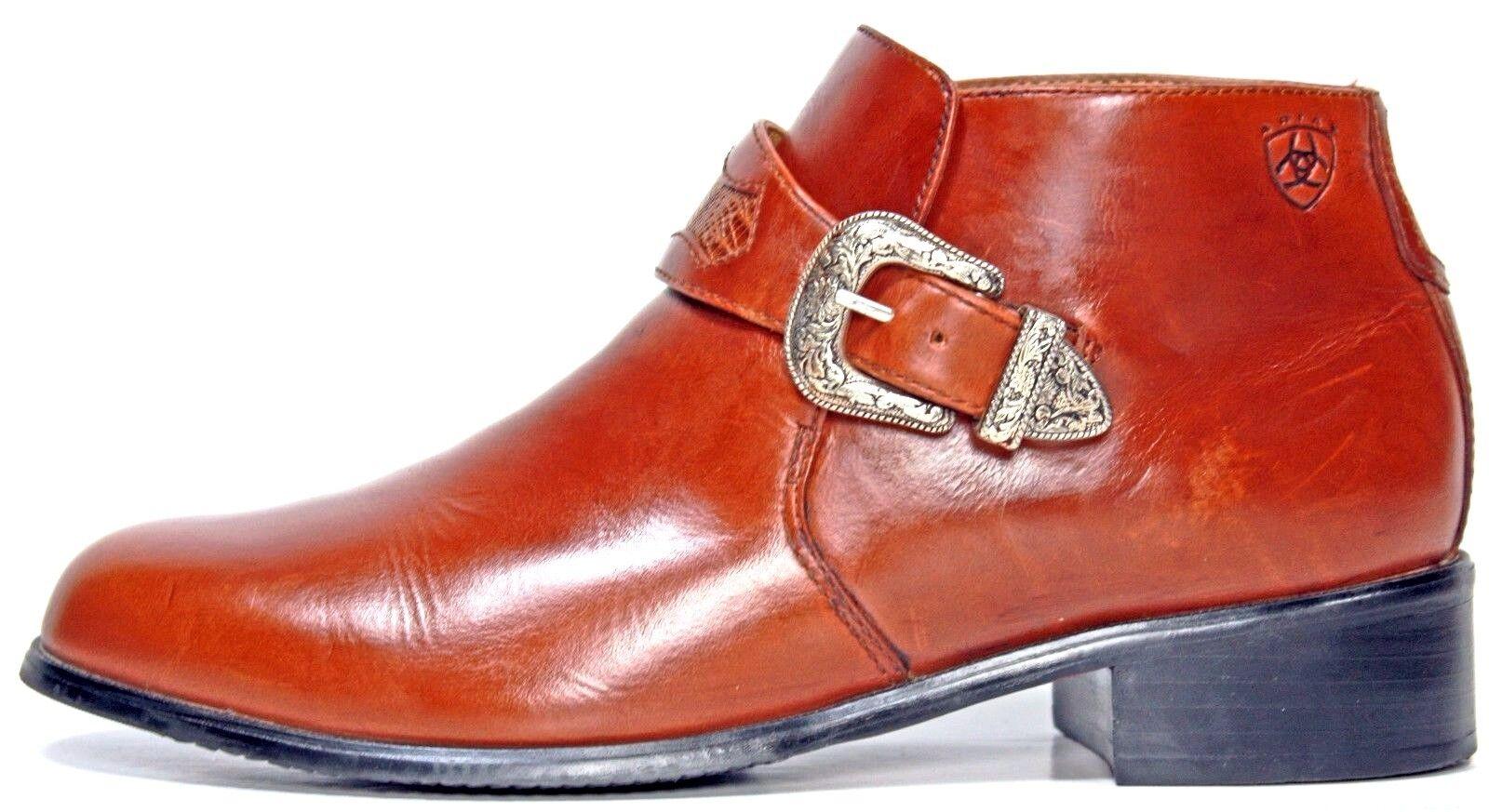 Ariat Damenschuhe Stiefel Größe 7.5 B Braun Leder Western Buckle Monk Strap MO3