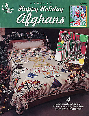 Happy Holiday Afghans ~ Angel Santa Poinsettia & More, Annie's crochet patterns