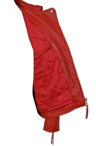 Fashion Men/'s Stylish Brando Red Real Hide Leather Classic Biker Stylish Jacket