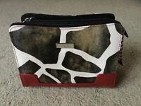 Petite Shell Miche Bag Cover Bag Sarah Red Black White Animal Cow Print