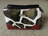 Petite Shell Miche Bag Cover Bag Sarah Red Black White Animal Cow Print