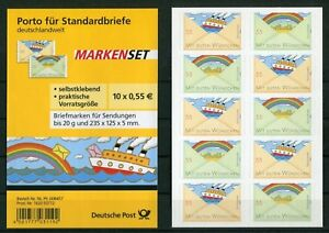 Bund-5-x-2848-2849-SK-Folienblatt-FB-13-postfrisch-BRD-Selbstklebende-MNH