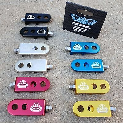 "Pair SE Lockit 3//8/"" BMX Chain Tensioners Silver"