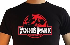 Nintendo-Super-Mario-Yoshi-T-Shirt-Yoshi-Park-MEN-039-S-Jurassic-Park-Smash-Bros