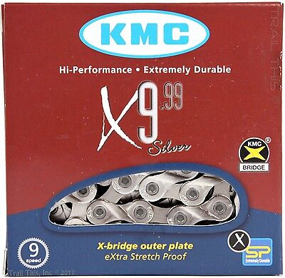 Road MTB CX KMC X9.99 9-Speed Bicycle Chain XSP fits Shimano Sram Campagnolo