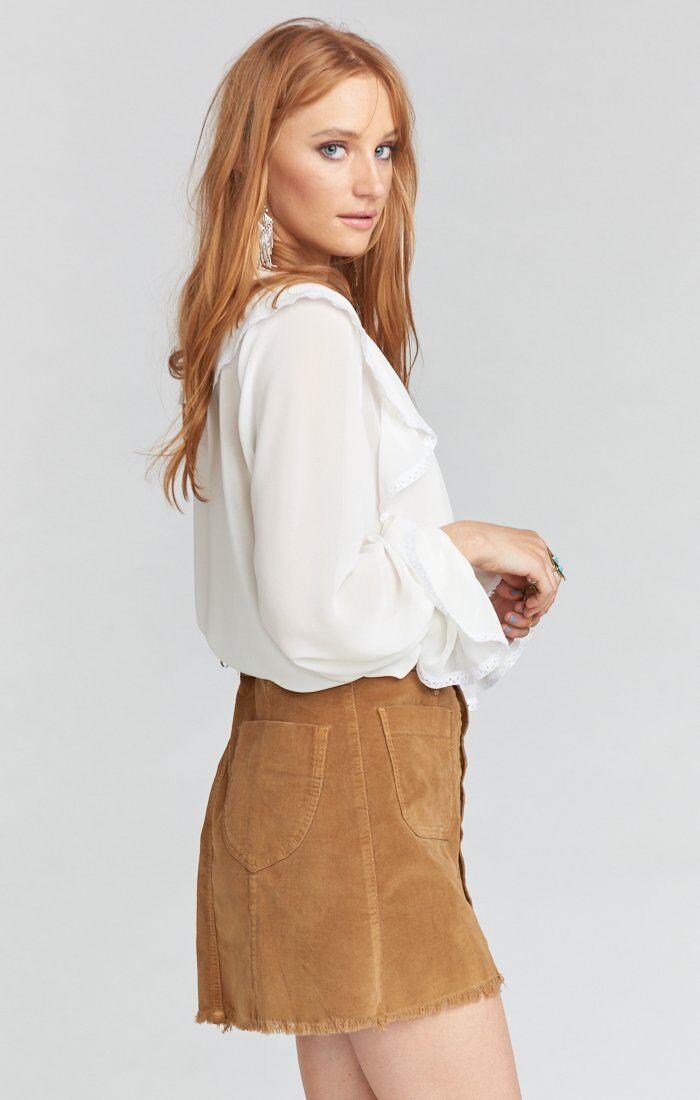 Show Me Your Mumu Sedona Stretch Corduroy Hazelnut Skirt