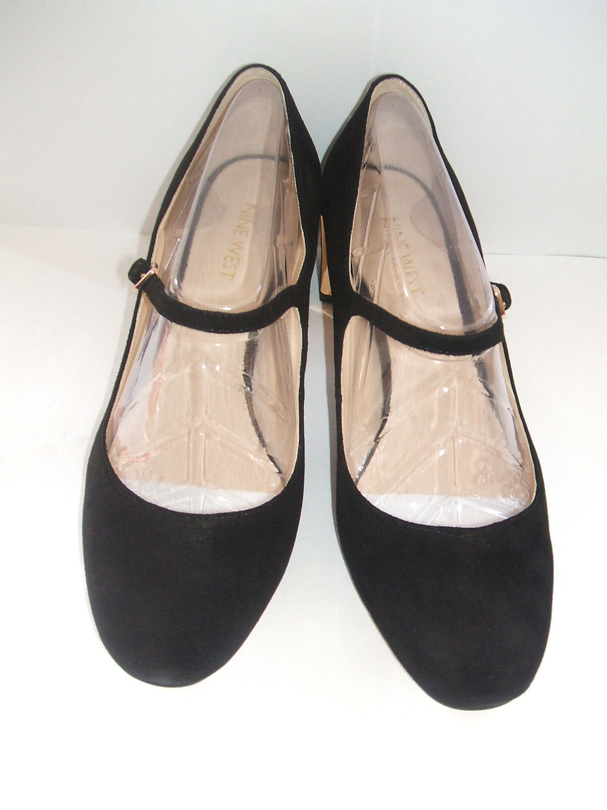 NINE WEST FADILLA BLACK SIZE 6 WIDE FIT BLACK FADILLA REAL SUEDE LEATHER MARY JANE COURT Schuhe 6446ff
