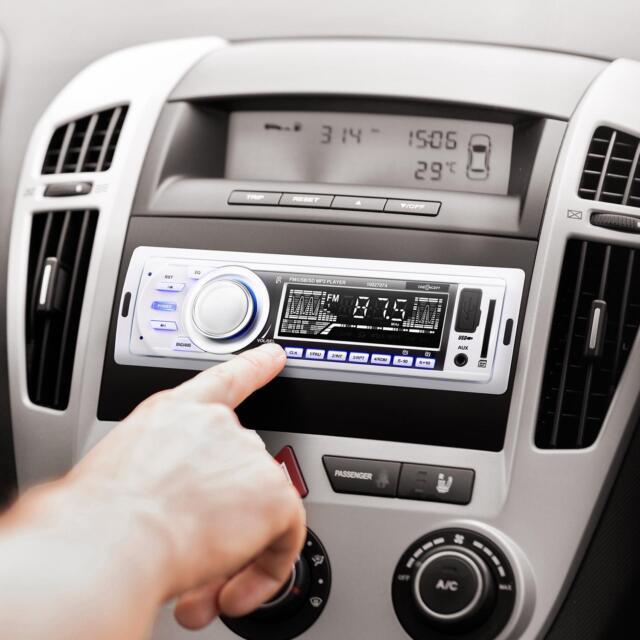 TOP 1DIN AUTO RADIO MP3 PLAYER USB SD FM AUX ISO 4 X 45W DIGITAL + FERNBEDIENUNG