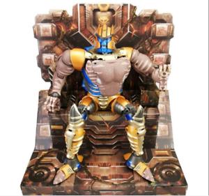 Transformers MP-41 Negro y blancoo Bestia guerra Dinobot Dinosaurio Guerrero + el trono