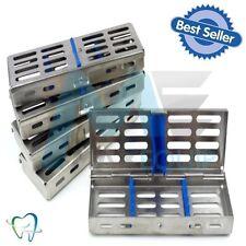 Sterilization Sterilizing Hold 5 DENTAL CASSETTE TRAY Rack x5 SET Medical CE