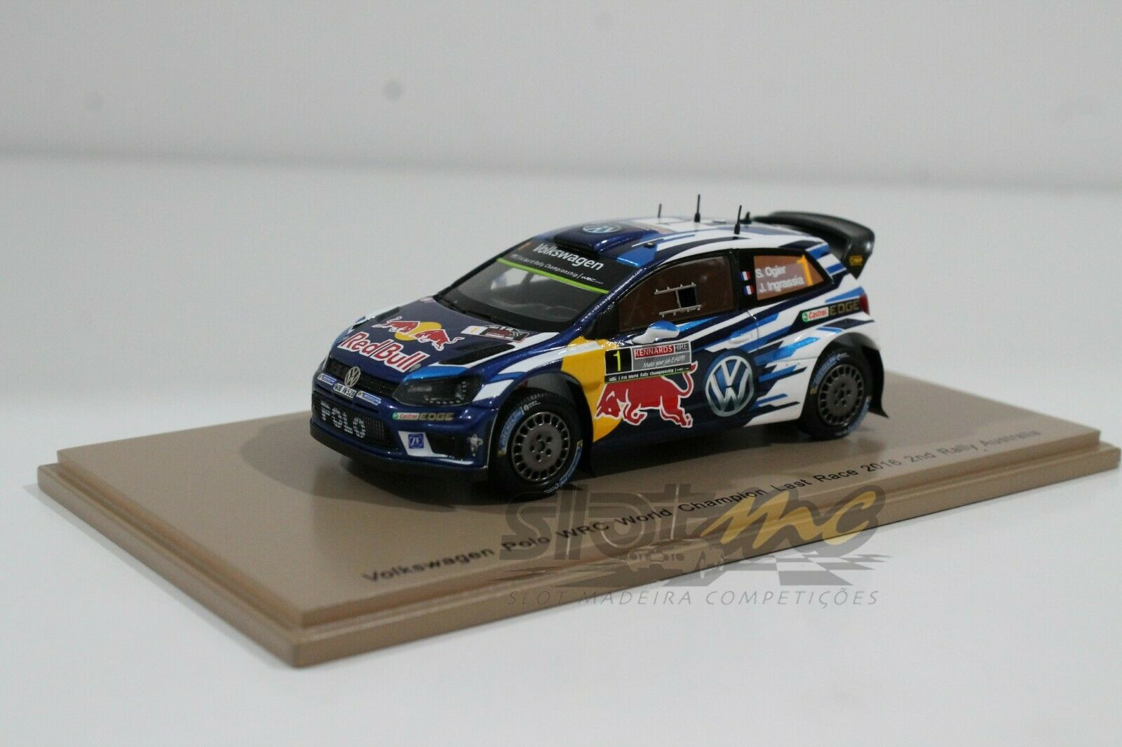 Spark S4971 Volkswagen Polo WRC WORLD CHAMPION última carrera 2016 1 43  NEW