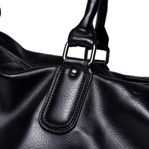Men/'s Stylish Large Leather Duffle Luggage Weekend Gym Overnight Travel Bag