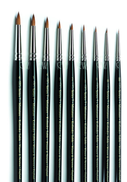 Winsor & Newton Series 7 Miniature Kolinsky Sable Artists Single Brushes