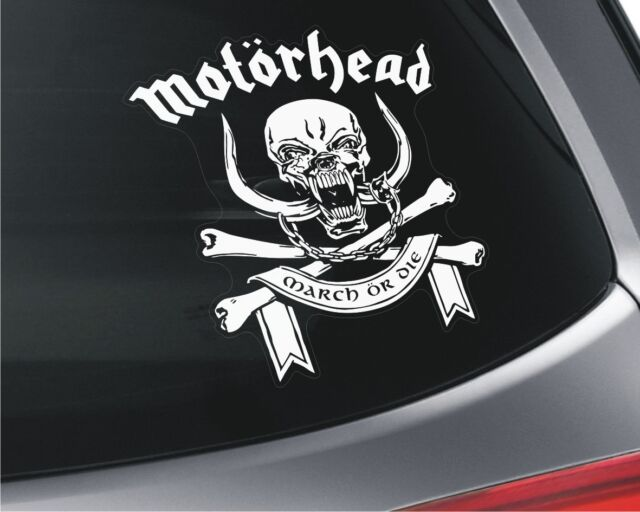 Motorhead x2 car window vinyl stickers music rock english band