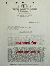 RACHEL CROTHERS - TYPED DOCUMENT- SIGNED - MGM - 1951 - JOAN CRAWFORD
