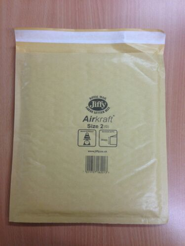 100 JL2 GENUINE /'GOLD/' AIRKRAFT JIFFY BAGS 205X245 FREEUKP/&P 24h Courier