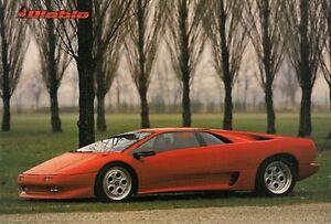 Lamborghini Diablo 1990 91 Uk Market Launch Leaflet Sales Brochure