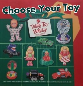 MIP-McDonald-039-s-1993-TOTALLY-TOY-HOLIDAY-Variation-MATTEL-Horror-Head-YOUR-CHOICE