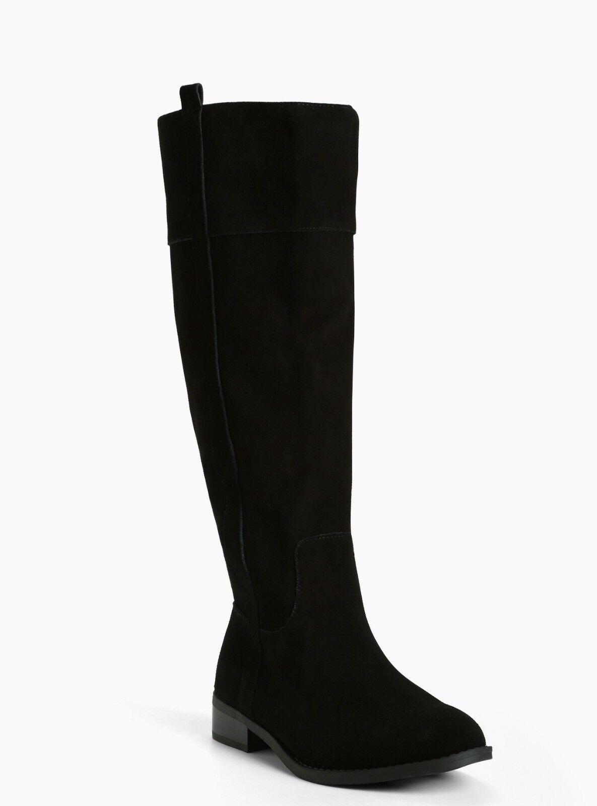 Torrid Genuine Suede Knee High Boots Wide Width & Wide Calf Black 9  0188
