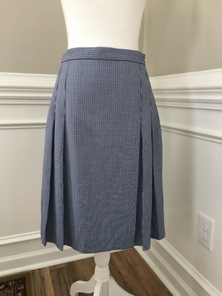 New J Crew Pleated Faux Wrap Skirt Houndstooth Multi Sz 6 Sample Item