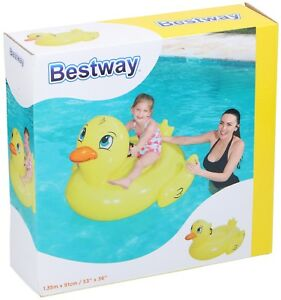 Bestway Aufblasbares Schwimmtier Badeente Luftmatratze Wassertier Schwimminsel