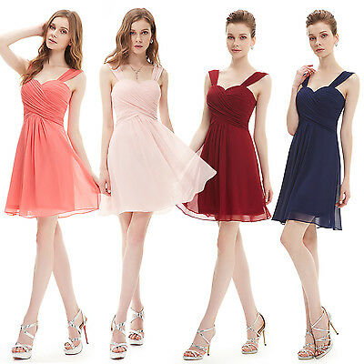 Chiffon Short Bridesmaid Evening Party Dresses Homecoming Gown 03539 UK Seller