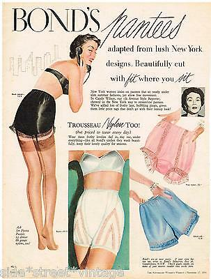 Original BONDS PANTEES LINGERIE AD BONDS 1954 Vintage Australian Advertising SSV