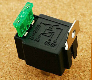 2 X ON//OFF Car Fused 4 Pin Relay Car Van Boat Vehicle Lighting Automotive Fuse