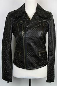 32a9ffc79 Image is loading 5650-New-Gucci-Womens-Studded-Leather-Biker-Jacket-
