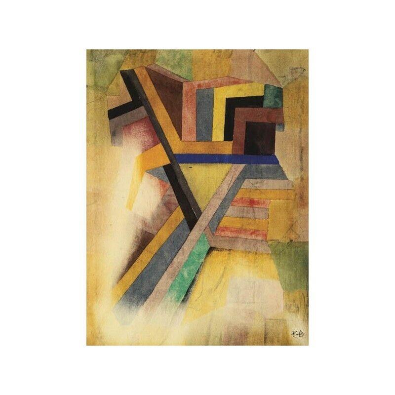 Quadro Telaio su Tela con Telaio Quadro Paul Klee Abstract Painting 8c6551