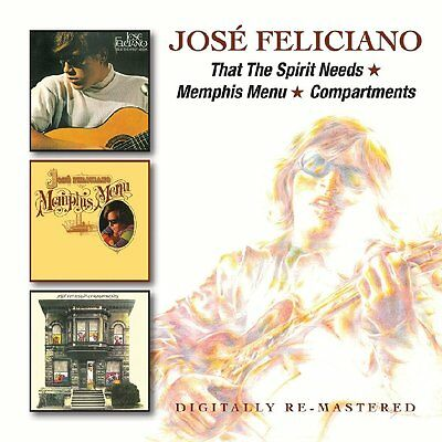 Jose Feliciano That The Spirit Needs/Memphis Menu/Compartments 2-CD NEW SEALED