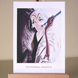 up-close-Cruella-de-Vil-portrait-WDCC-villains-drawing-ACEO-art-card