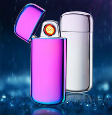 USB Cigarette Cigar Electronic Lighter Rechargeable Flameless Windproof Metal