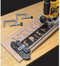 Sign Making Jig Set Routers Engraved Wood Wooden Signs Router Bits Power Tool