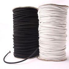10M*4mm Black Strong Elastic Bungee Rope Shock Cord Tie Down DIY Jewelry Making