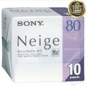 NEW-SONY-10MDW80NED-mini-disc-80-minutes-10-pieces-set-genuine-from-JAPAN
