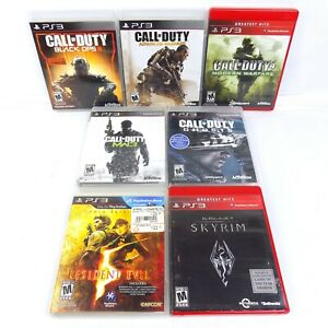 PS3-Game-Lot-Of-7-Call-Of-Duty-Modern-Warfare-Black-Ops-Skyrim-Resident-Evil