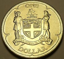 Fiji 1969 Dollar Rare Unc~Only 70,000 Minted~Crown~Free Shipping