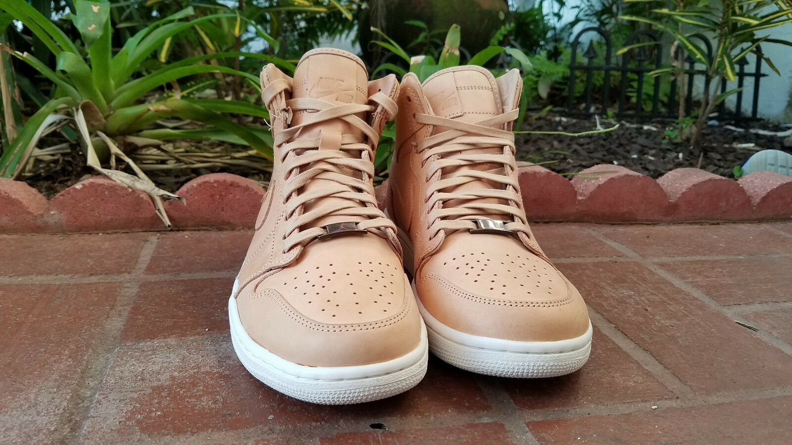 Mens Nike Air Jordan I 1 Pinnacle High OG Sail Vachetta tan white 705075 201 LUX