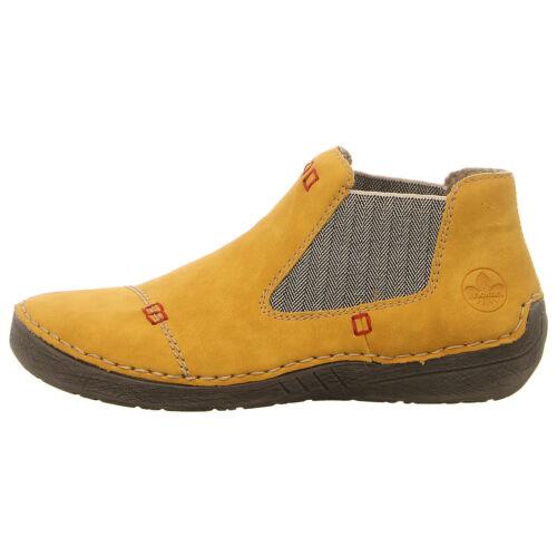 Rieker Chaussures Bottine 52590-69 Jaune Nouveau