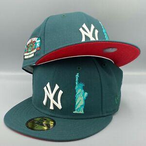Yankees Liberty & Big Apple Subway Series 59FIFTY New Era Green Hat Red Bottom