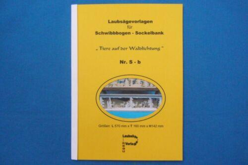 REGU Laubsägevorlage Sb880 Vorlagen zum Bau einer SOCKELBANK für Schwibbogen