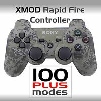 PS3 MODDED CONTROLLER,4 AW BLACK OPS 3, JITTER, XMOD RAPID FIRE MOD @  100 MODES