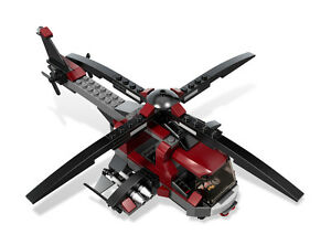 LEGO-6866-X-MEN-Wolverine-039-s-Chopper-Showdown-Helicopter-ONLY